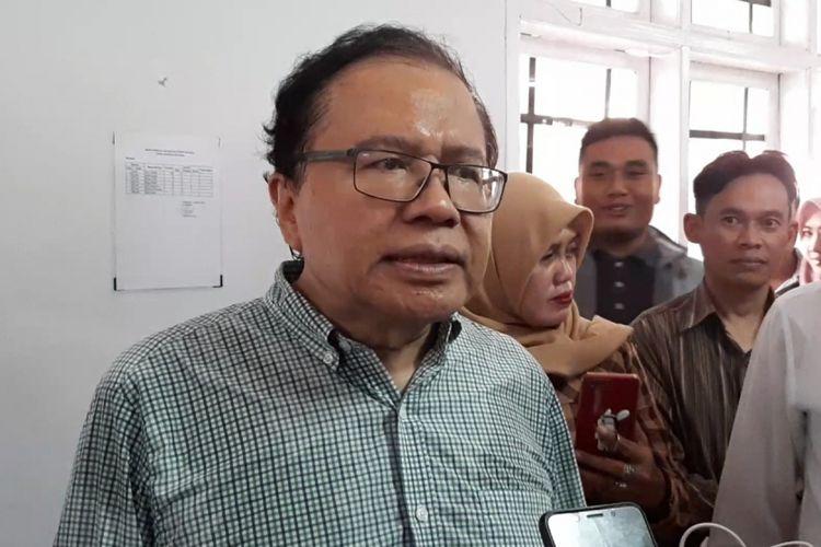 Rizal Ramli di Kampus STIE Sebelas April Sumedang, Jumat (8/2/2019).
