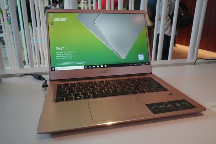 Acer meluncurkan laptop tipis dan ringan bertajuk ?Swift 5?, dalam Konferensi Pers Global yang digelar pada Rabu (23/5/2018), di New York, Amerika Serikat.