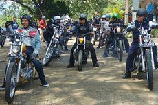 Ditemani Puluhan Biker, Jokowi Touring Pakai Chopper di Sukabumi