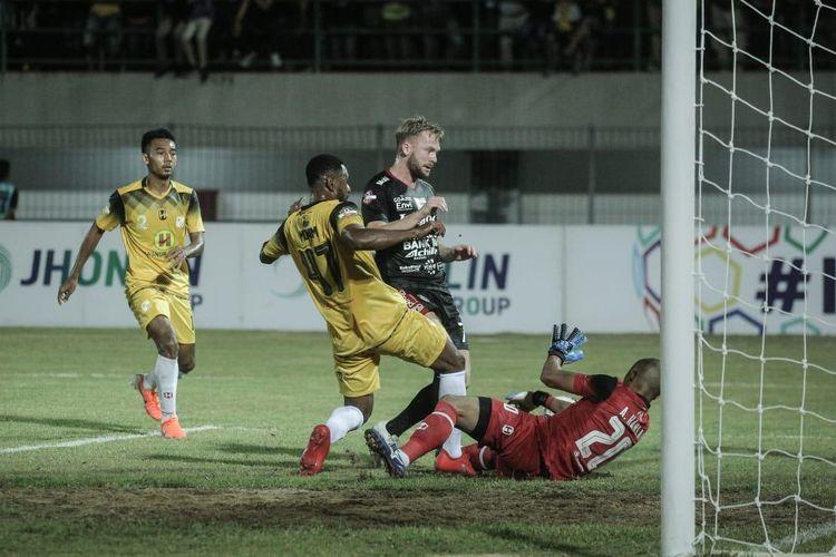 Pertandingan Barito Putera Vs Bali United berlangsung di Stadion Demang Lehman, Banjarbaru, Kalimantan Selatan, Minggu (14/7/2019).