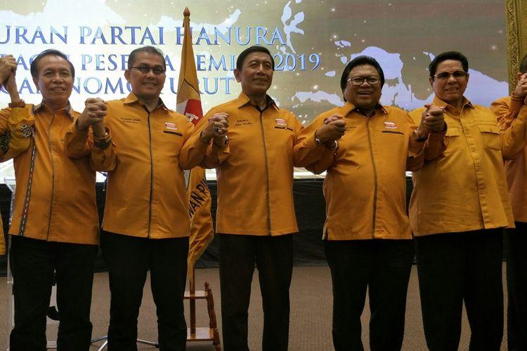 Oesman Sapta Odang dan Wiranto di acara syukuran Hanura