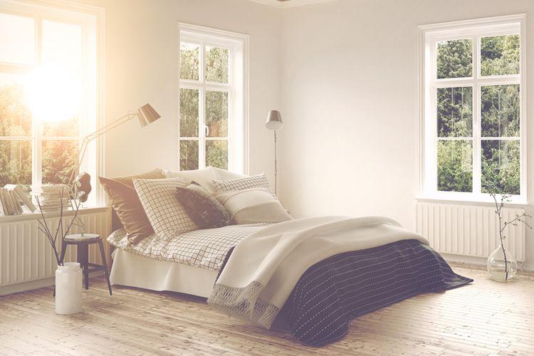 Ilustrasi tempat tidur, tempat tidur minimalis