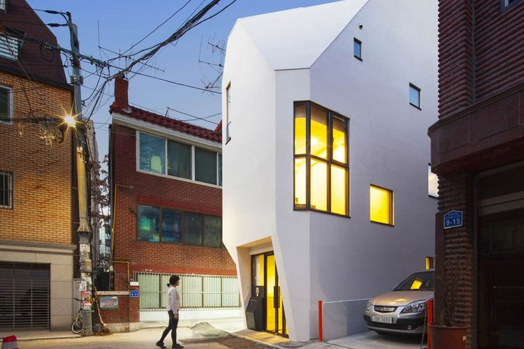 Rumah dan kantor penerbit buku Galmuri Publishing di Seoul.