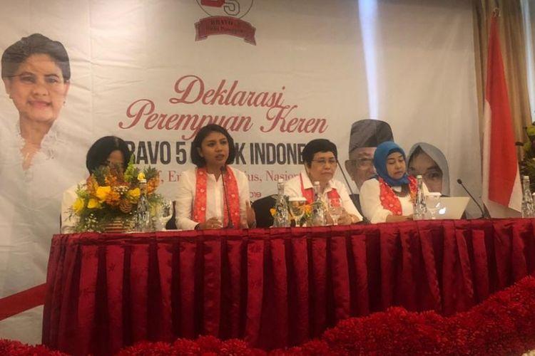 Deklarasi Divisi Perempuan Bravo 5 untuk Jokowi-Maruf dalam Pilpres 2019 di Hotel Altlet Century, Kamis (8/11/2018).