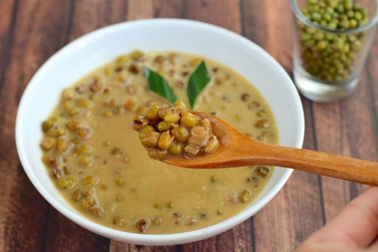 Ilustrasi bubur kacang hijau.