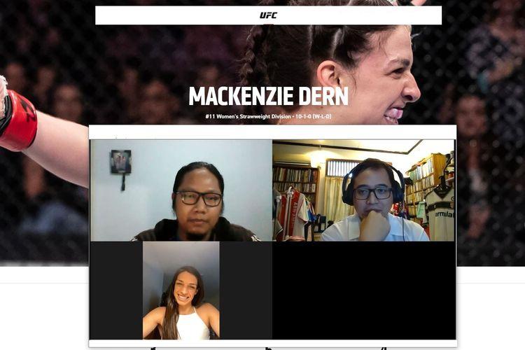 Wawancara Kompas.com dan BolaSport.com dengan petarung UFC Portugis-Amerika Serikat, Mackenzie Dern, pada Rabu (7/4/2021) pagi WIB jelang UFC Vegas 23.