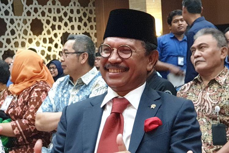 Menkominfo Johnny G Plate di acara sertijab di Kementerian Kominfo, Rabu (23/10/2019).