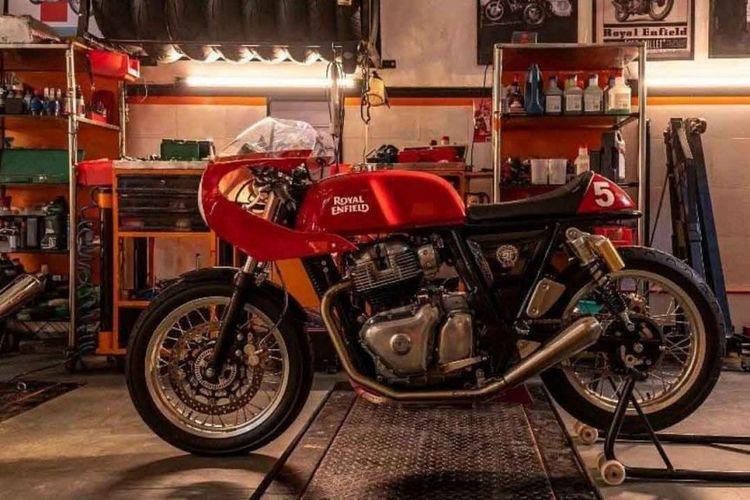OMR Royal Enfield, balapan pakai motor bergaya cafe racer dengan basis Continental GT