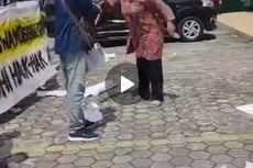 Video Viral Oknum Dosen Bubarkan Demo Mahasiswa di Kaltim Pakai Sapu Kayu