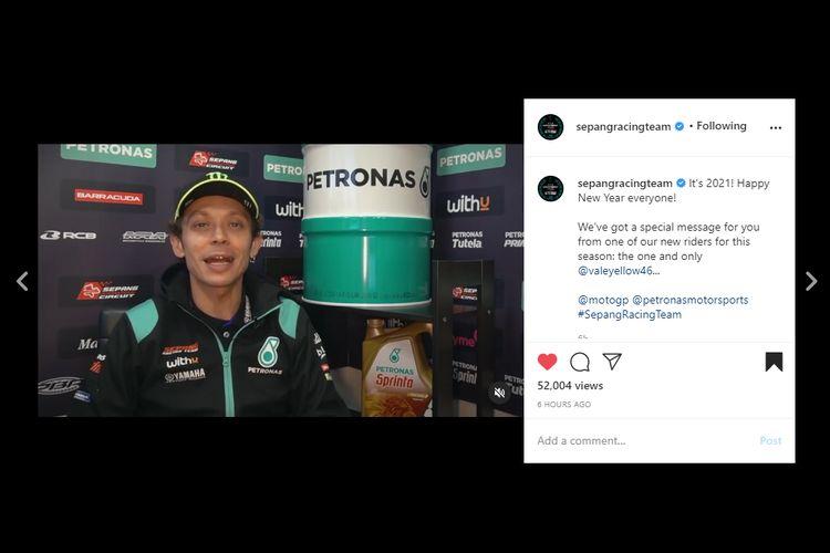Valentino Rossi resmi berseragam Petronas Yamaha Sepang Racing Team