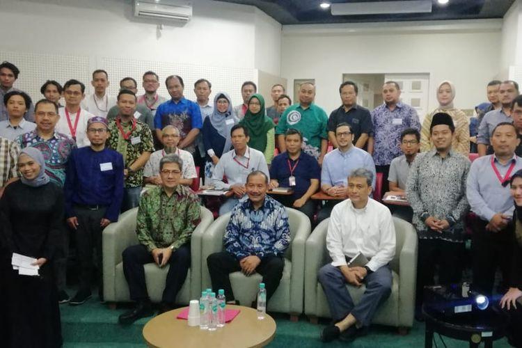 Perwakilan pengurus masjid/mushala di lingkungan kerja Sinar Mas di acara ?Pelatihan Administrasi Masjid di BSD City , Selasa (11/02/2020).