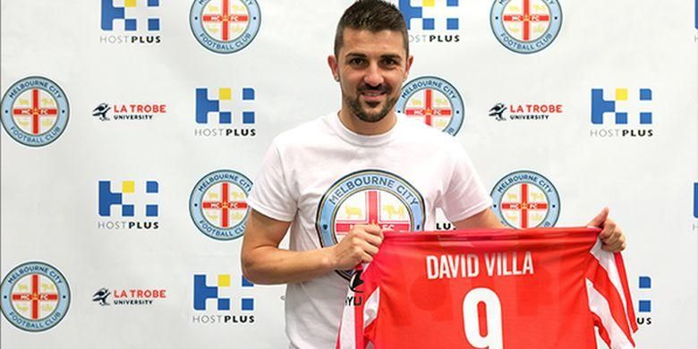 David Villa dengan seragam Melbourne City.