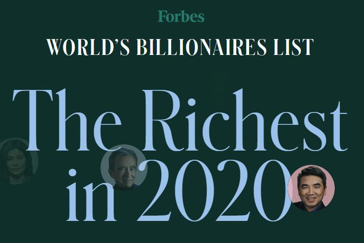 Daftar orang terkaya di dunia versi Forbes