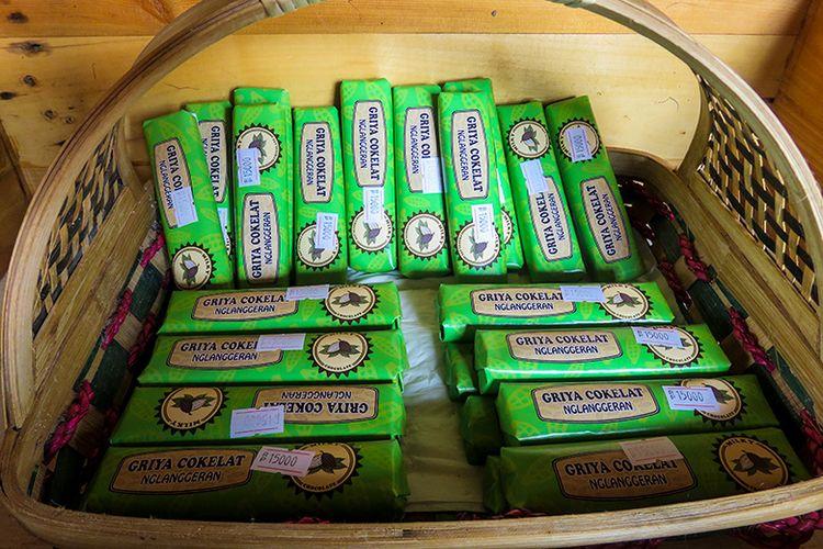 Cokelat Batangan yang Dijual di Griya Cokelat Nglanggeran.