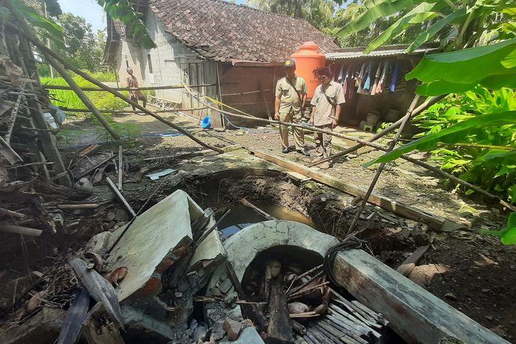 Sumur Ambles Milik Kasino Warga Desa Genjahan, Kecamatan Ponjong, Gunungkidul, Senin (2/3/2020)