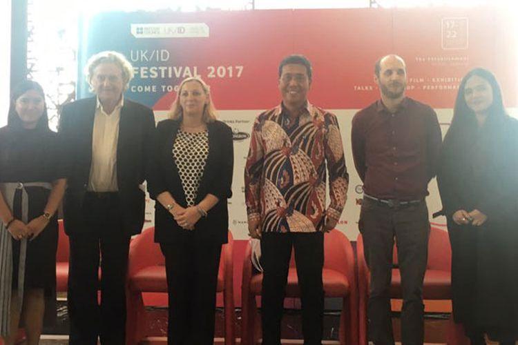 Konferensi pers UK/ID Festival 2017 di Hotel Grandhika, Jakarta, Rabu (4/10/2017). Festival ini akan digelar untuk kali kedua di The Establishment, SCBD, Jakarta, pada 17-22 Oktober 2017.