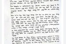 Suami Zikria Dzatil Tulis Surat untuk Risma, Ini Isinya