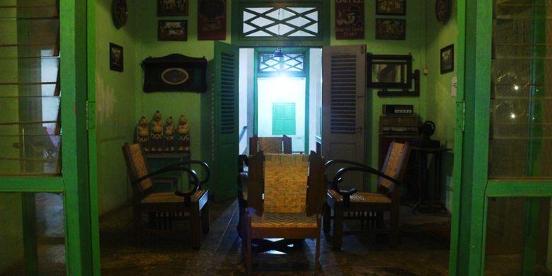Bangunan dalam bekas peninggalan zaman kolonial Belanda menjadi salah satu suasana menarik di W-dangan Kandang Sapi, Boyolali, Jawa Tengah.