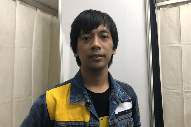 Rian D'MASIV saat dijumpai di kawasan Ancol, Jakarta Utara, Selasa (1/1/2020).
