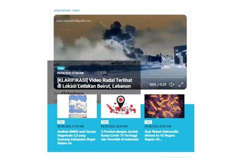 [POPULER TREN] Video Manipulasi Rudal Saat Ledakan Lebanon | LTMPT soal UTBK SBMPTN