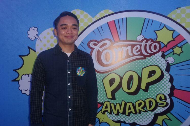 Dipha Barus usai menghadiri konferensi pers Cornetto Pop Awards di Empirica, SCBD, Jakarta Selatan, Jumat (19/5/2017).