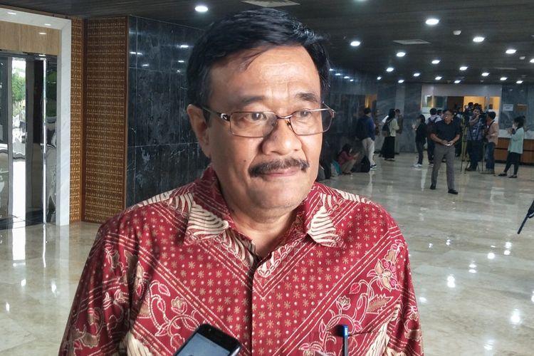 Kepala Badan Pengkajian MPR Djarot Saiful Hidayat di Kompleks Parlemen, Senayan, Jakarta, Senin (25/11/2019).