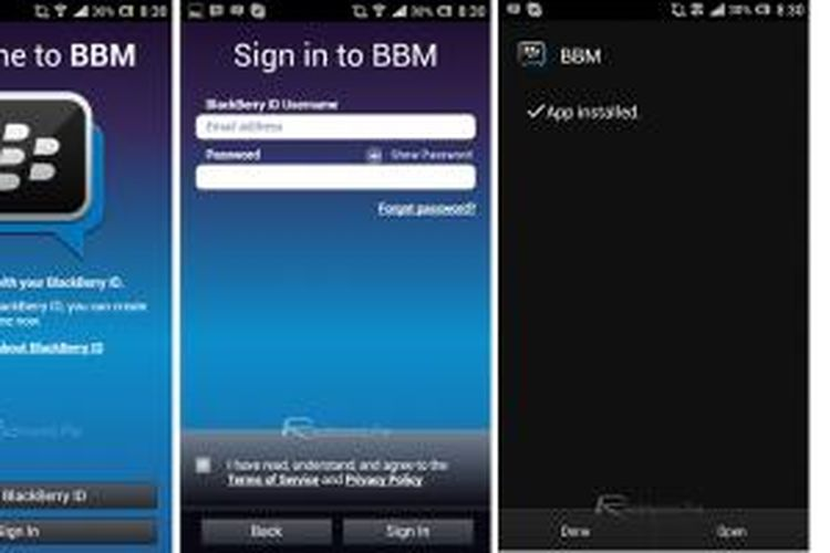 Aplikasi BlackBerry Messenger (BBM) versi uji coba untuk Android, beredar di internet dan bebas untuk diunduh