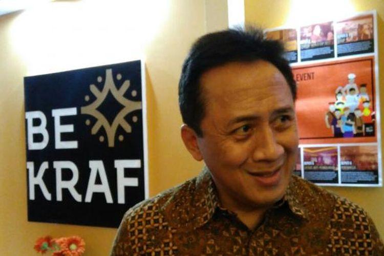 Kepala Bekraf Triawan Munaf dalam Gala Dinner Insan Media di Jakarta, Senin malam (31/10/2016).