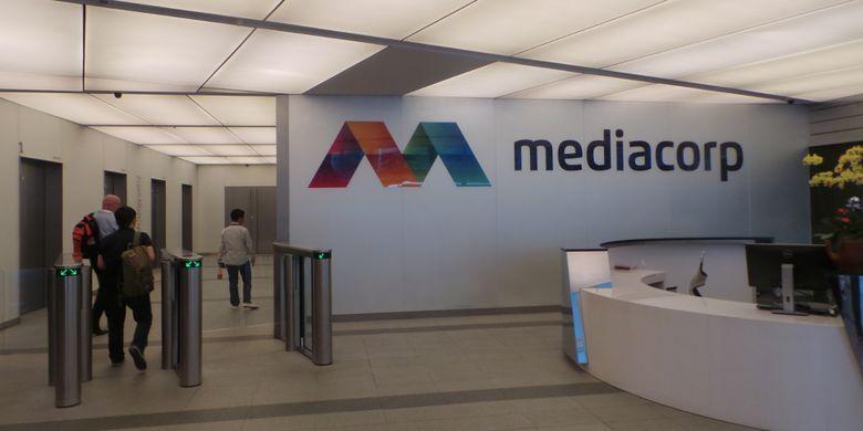 Akses masuk dan ruang lobi Mediacorp Singapura, Kamis (7/12/2017).