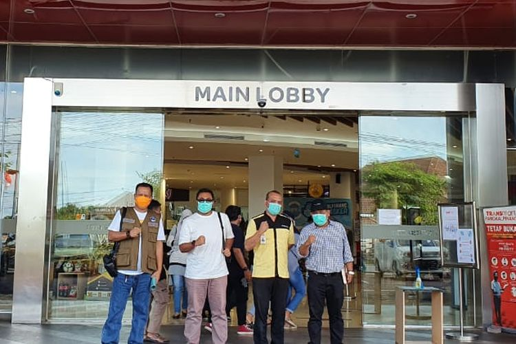 Tim Satgas Covid-19 Bangka Belitung saat monitoring lokasi vaksinasi massa di pusat perbelanjaan Pangkalpinang, Sabtu (19/6/2021).