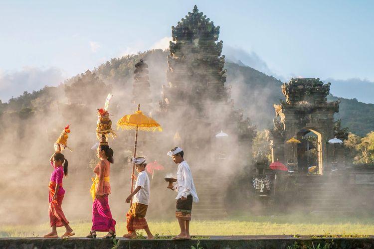 Ilustrasi suasana di Bali.