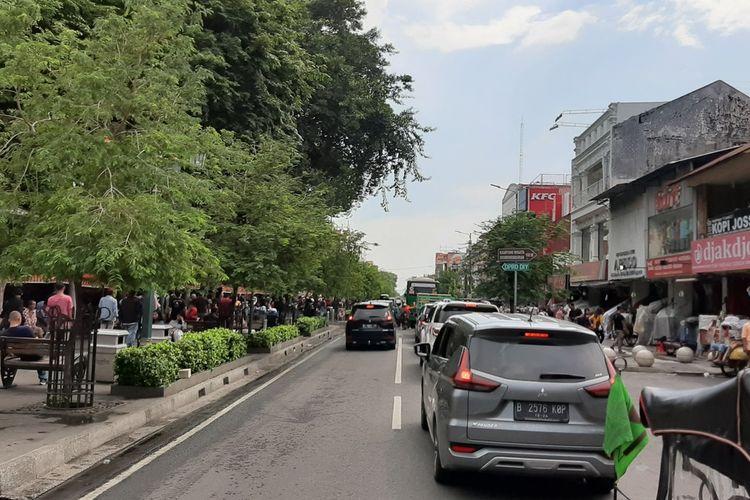 Jalan Malioboro, Yogyakarta Jumat (27/12/2019)