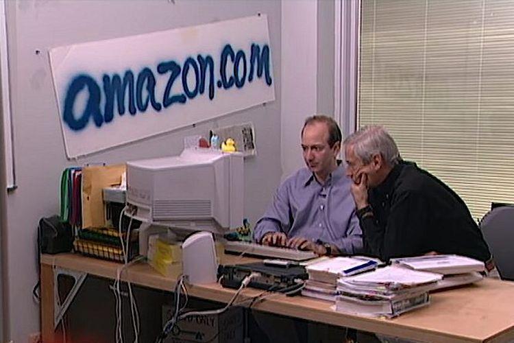Jeff Bezos saat pertama kali merintis Amazon.com tahun 1994