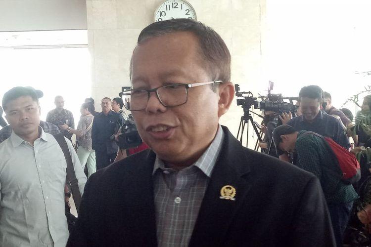 Arsul Sani di Kompleks Parlemen, Senayan, Jakarta, Selasa (11/6/2019)
