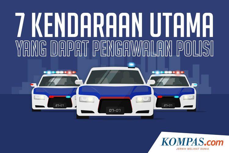 7 Kendaraan Utama yang Dapat Pengawalan Polisi