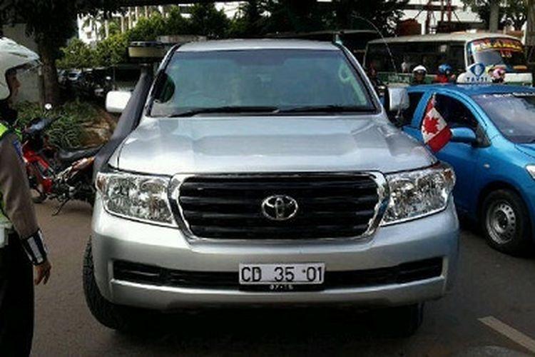 Pelat nomor kendaraan Korps Diplomatik