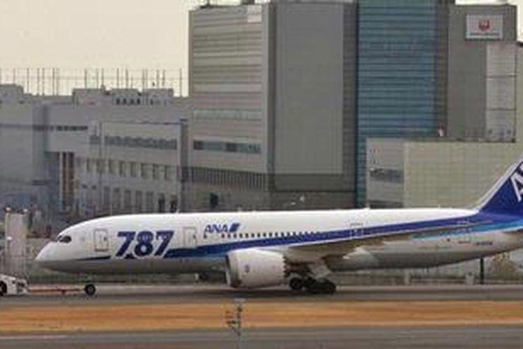 Salah satu Boeing 787 Dreamliner milik maskapai All Nippon Airways (ANA).