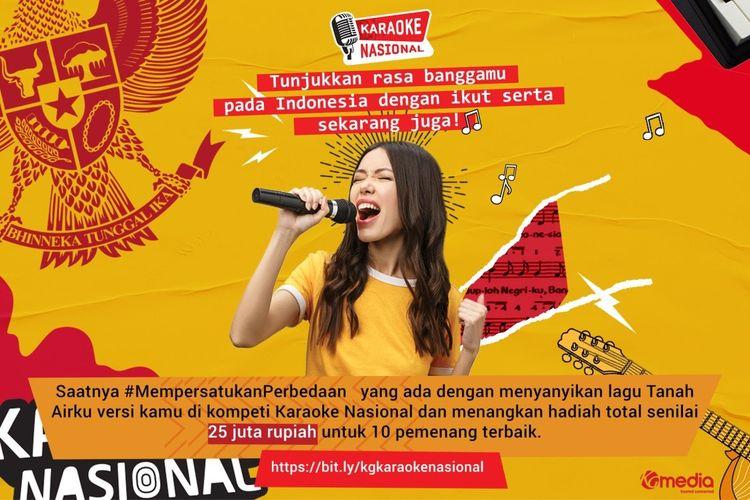 Lomba Karaoke Nasional yang digelar KG Media dengan membawakan lagu Tanah Airku.