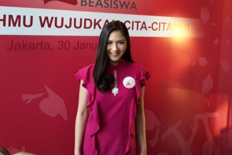 Jessica Mila ditemui dalam peluncuran produk perawatan wajah di Hotel Veranda, Jakarta Selatan, Selasa (30/1/2018).