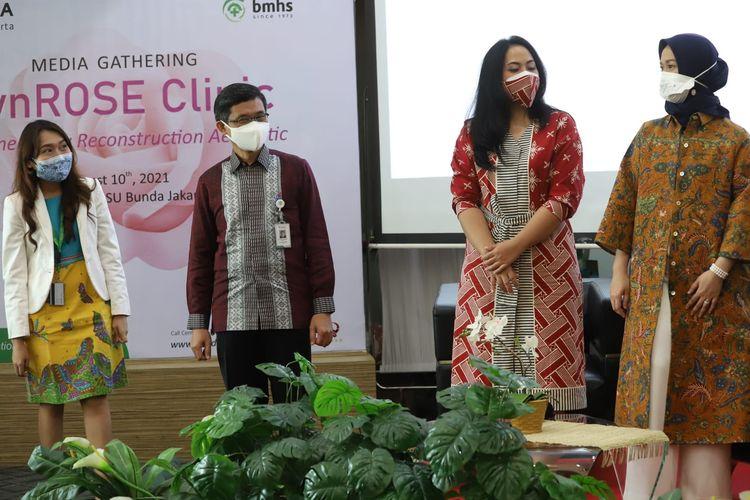 Peluncuran GynRose Clinic yang melayani pengobatan masalah seputar urologi ginekologi di RS Bunda Menteng Jakarta (10/8/2021).