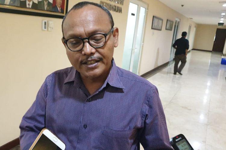 Wakil Ketua DPRD DKI Jakarta nondefenitif Syarif di gedung DPRD DKI Jakarta, Jalan Kebon Sirih, Jakarta Pusat, Kamis (5/9/2019).