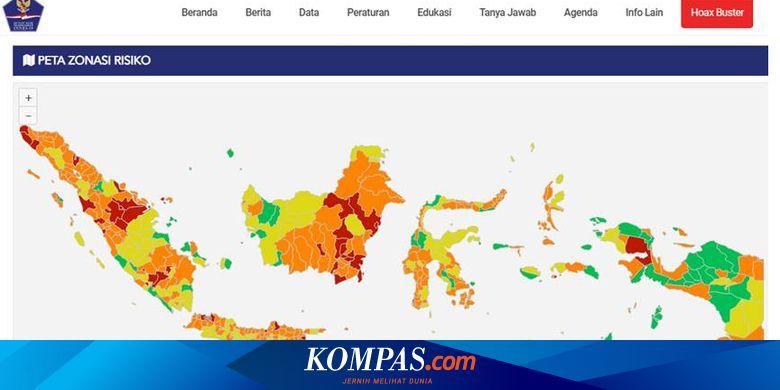 Daftar Zona Merah Covid 19 Di Indonesia Bali Terbanyak Dengan 8 Kabupaten Kota Halaman All Kompas Com