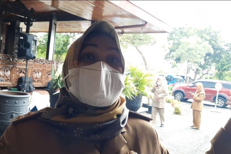 Wakil Bupati Blora, Tri Yuli Setyowati saat berada di Pendopo Bupati Blora, Senin (5/4/2021)