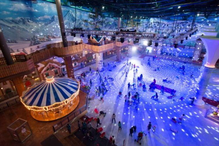 Snow park di Taman hiburan Onemount