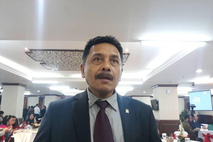 Eks Hakim MK I Dewa Gede Palguna di Gedung MK, Jakarta Pusat, Selasa (7/1/2020).