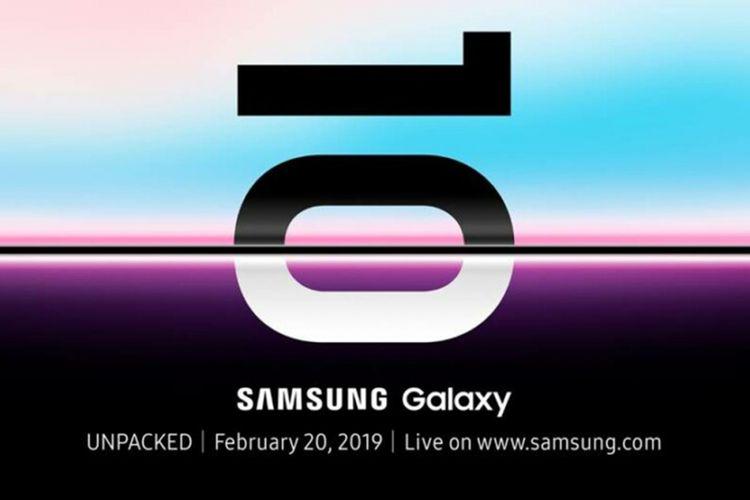 Gambar undangan dari Samsung untuk acara Galaxy Unpacked tanggal 20 Februari 2019.