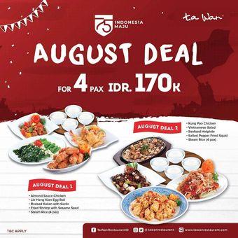 Promo Agustus Ta Wan Restaurant
