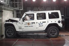 Rapor Merah Uji Tabrak Jeep Wrangler di Eropa