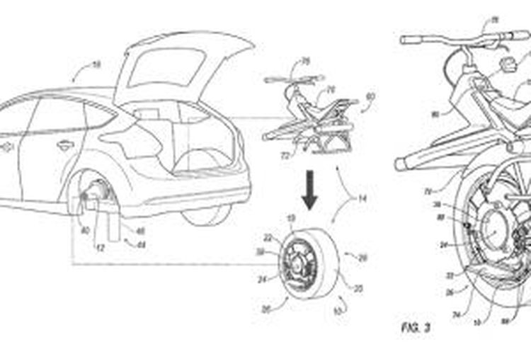 Paten Ford, memungkinkan mobil mengangkut kendaraan personal.
