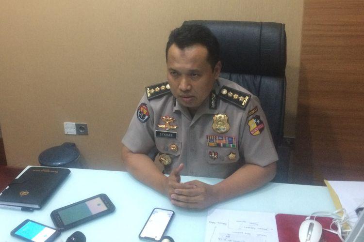 Kepala Bagian Penerangan Umum Divisi Humas Polri Kombes (Pol.) Syahar Diantono di Gedung Humas Mabes Polri, Kamis (6/12/2018).